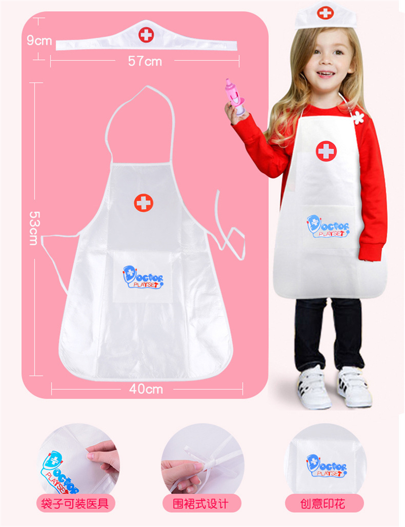 Children Halloween costumes children girls doctor nurse role-playing sets Girls Pretend Play doctor nurse cosplay wear 6pcs lot acrylic cartoon nurse retractable badge reel id name tag card badge holder reels 2018 new doctor nurse supplies