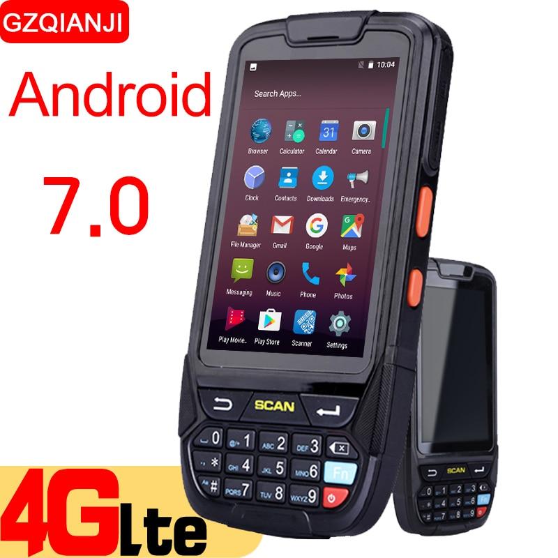 PDA Прочный ручной терминал Android 7,0 сбора данных терминал беспроводной 1D 2D QR сканер штрих-кодов Reader NFC терминал 4G