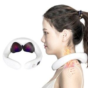 Electric pulse Acupuncture Neck massager health care Cervical therapy instrument Charge patch massage Nanolight cervical massage