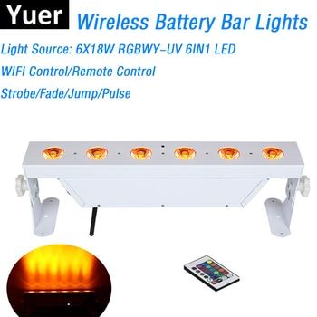Новый дизайн, белый корпус 6X18W 6IN1, беспроводной аккумулятор, светодиодные прожекторы для стен, DMX, бар, световые огни, спрайциальный DJ эффект, ...