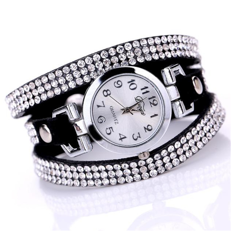 High Quality women fashion casual watch luxury dress ladies Leather Band Analog Quartz Wrist Watch clock Montre femme O10 (5)