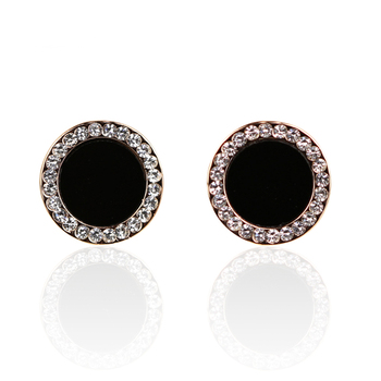 Women's Drop Crystal Earrings Earrings Jewelry Women Jewelry Metal Color: E037