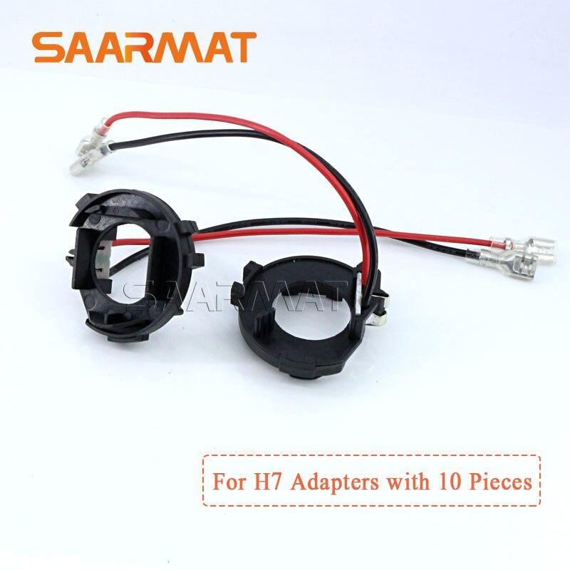 10 шт. h7 светодиодные лампы Клип Фиксатор адаптер База держатель для фар автомобиля головной свет фар разъем для VW Гольф 7