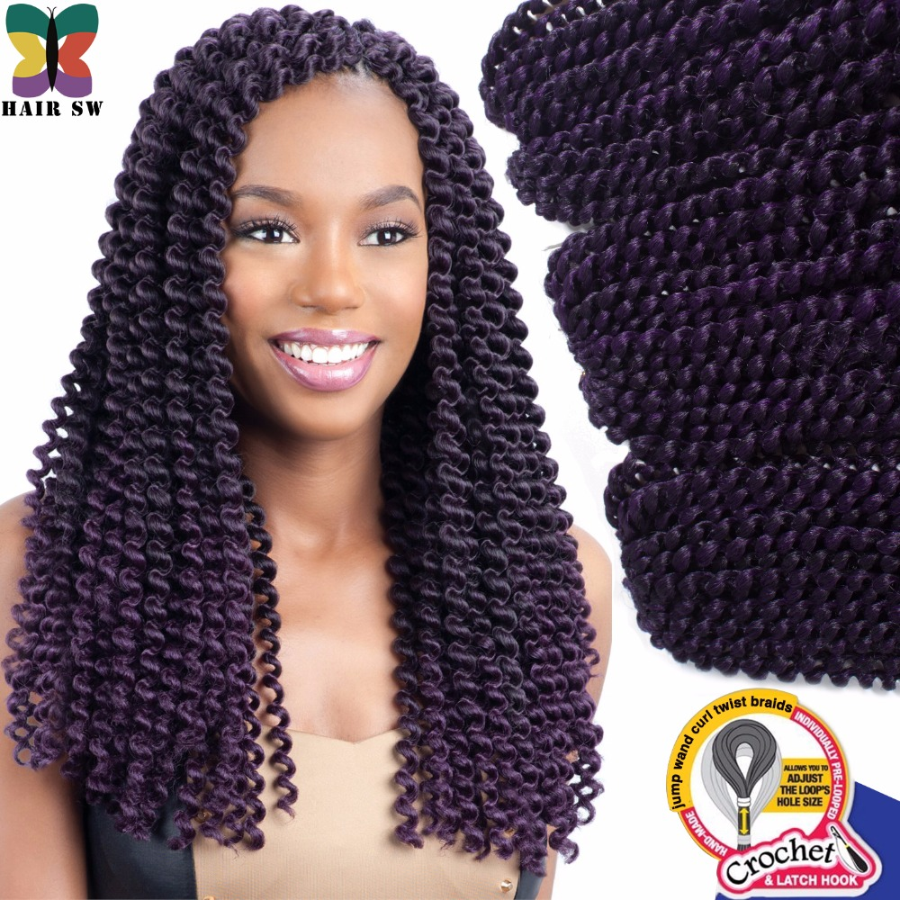 Jumbo twist Crochet Braids Single Strand Out jamaican bounce curly Non ...