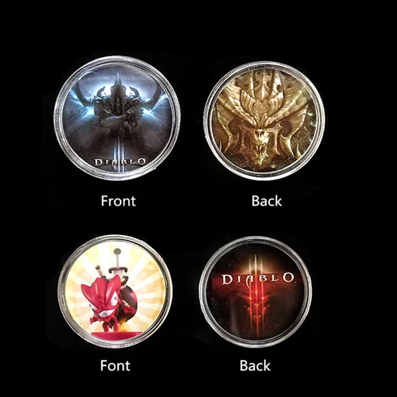 2Pcs Diablo 3 Collection Coin <font><b>NFC</b></font> <font><b>Card</b></font> Tag Loot Goblin Of <font><b>Amiibo</b></font> NS New Data Ntag215 Sticker Coin Elite monster Secret territory image