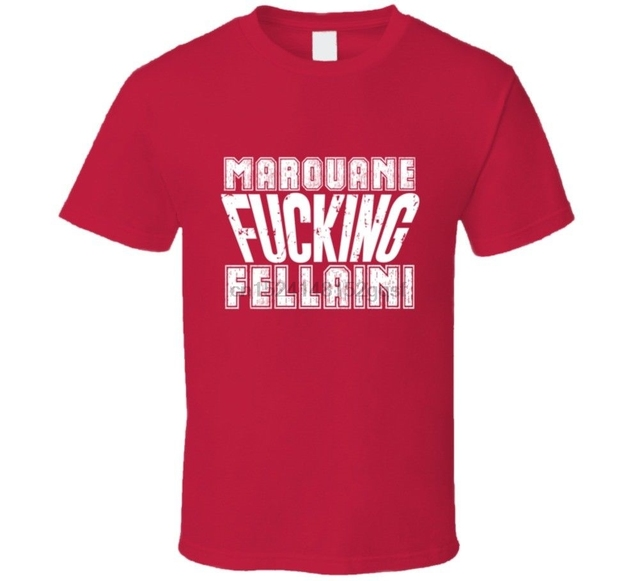 30a7364e0 Marouane Fellaini Belgium world famous 2018 soccerer Fan T Shirt-in ...