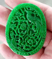 Natural Green Jade Lucky Pendant Fine Jade Carved Phoenix Lucky Amulet Pendants + Rope Necklace Fashion Jewelry
