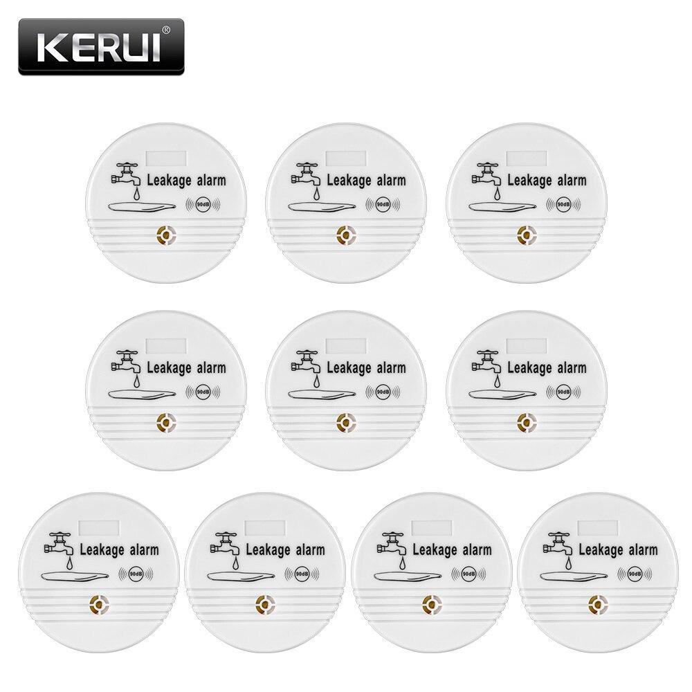 KERUI 10 ps Fuite D'eau Capteur Détecteur D'alarme 90dB Voix Détecteur de Fuite D'eau Sans Fil Maison Sécurité Système D'alarme de Sécurité À Domicile