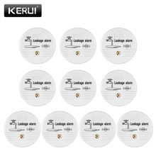 KERUI 10ps Water Leakage Sensor Alarm Detector 90dB Voice Wireless Water Leak Detector House Safety Home Security Alarm System