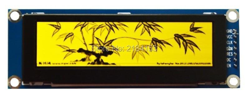 Livraison gratuite 5 pcs 3.12 pouce 16 P SPI Jaune OLED Module SSD1322 Dur IC 256*64 8080/6800 Parallèle Interface
