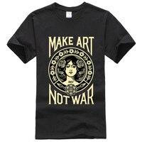 Fashion T Shirt Men 2017 Obey Propaganda New Black O Neck Women Tops Male Shirts Short