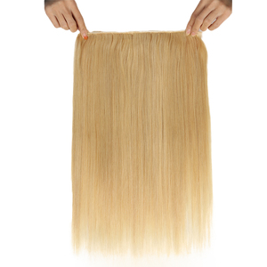 Image 5 - Sleek Double Drawn Straight Hair P6/613 Blonde P27/613 Brazilian Human Hair Bundles 1 Piece Only Remy Extensions Free Shipping