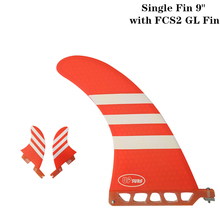 цена на Surf longboard fin 9 inch Surf 9 inch Fin with FCS2 GL Fibreglass in Surfing single Fin with FCS2 GL Red/Blue color