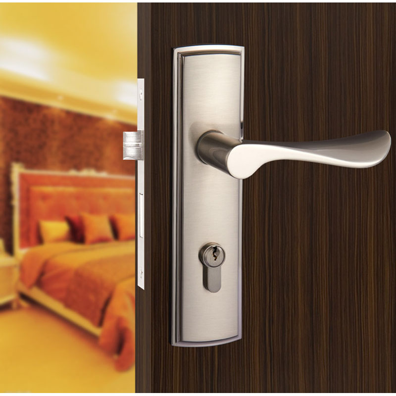 Buy new aluminum material interior door for Door handle with lock