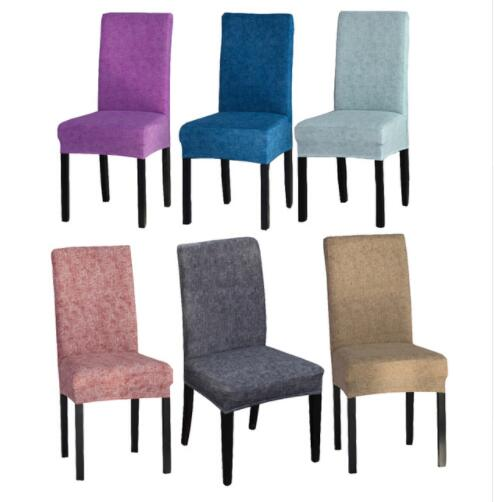 € 8.05 |Color sólido comedor cubierta de la silla de Spandex elástico de  poliéster cubierta de asiento de Anti sucio silla funda protectora para ...