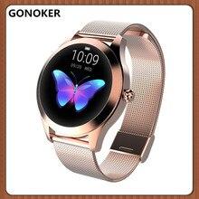 Женские Смарт-часы, легкие Смарт-часы для женщин монитор для сна и фитнеса водостойкие напоминания о вызове для iPhone Android