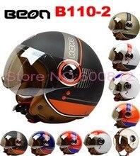 BEON мотоциклетных шлемов Половина лицо Хелли стиль Принц мотоцикл Шлем с ума от ABS имеют 10 видов цветов B110-2 для унисекс