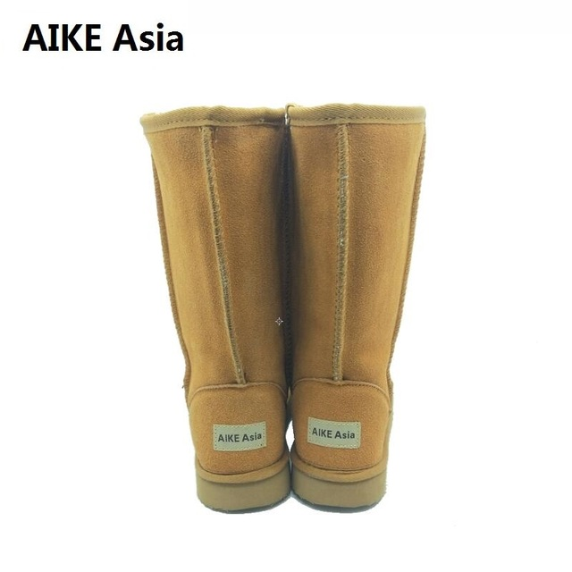 High Quality Snow Boots Women Fashion Genuine Leather Australia Womens High Boot Winter Women Snow Shoes botas mujer SIZE 3-12