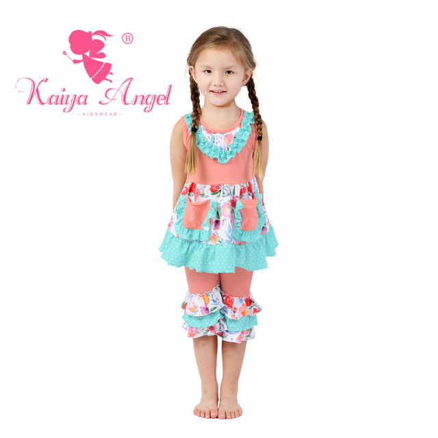 Kaiya Angel Baby Girl Floral Cute Children Clothing Valentine S Day
