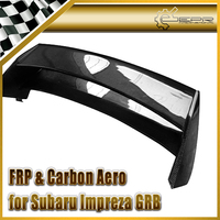 Car Styling For Impreza GRB Double Blade Style Carbon Fiber Rear Spoiler Glossy Fibre Trunk Window Roof Wing Auto Body Kit Trim