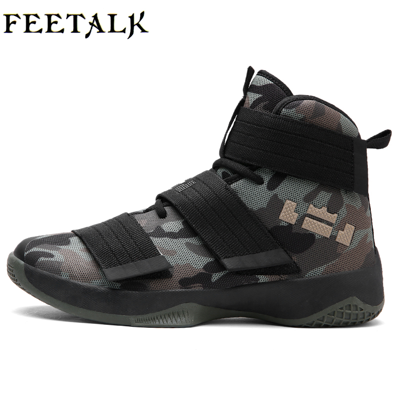 Newest Men Basketball Shoes 2017 Male Ankle Boots Anti-slip Outdoor Sport Sneakers Plus Size EU 36-45 Free Shipping image