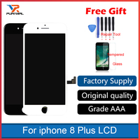 Original OEM Black White For iphone 8 Plus LCD Display Screen Touch Screen Digitizer Assembly Phone Replacement No Dead Pixel