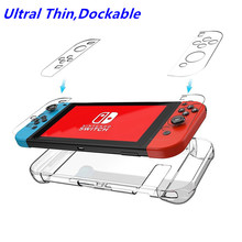Dockable Ultra Thin Protective Crystal Clear Shell Cover PC Transparent Shell Case For Nintend Switch NS NX Fit the Docking protective case crystal cover shell shockproof back clear ultra thin transparent for nintendo switch ns game console controller
