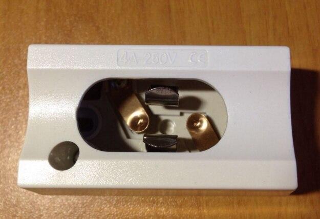 Base de luz de soporte de lámpara doble bayoneta S14D para espejo antillama 250 v 4a