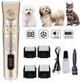 USB зарядка ПЭТ Электрический клипер светодиодный Кот Груминг для собачьей шерсти Профессиональный 3 скорости дизайн беспроводной триммер д...