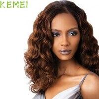 2017 Hot  60cm Curly Hair wig  Elegant Temperament In The Long Brown Curly Hair Wigs Fashion Ladies Mar25