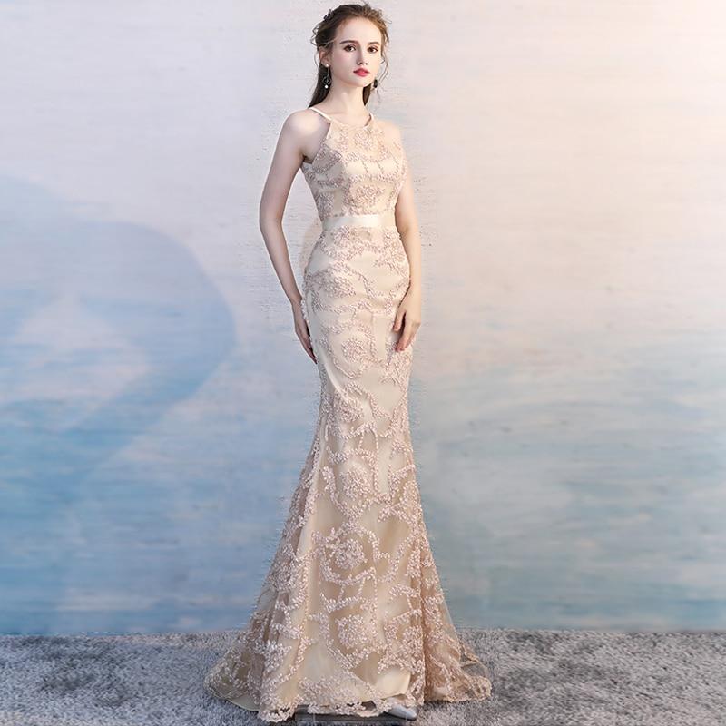 Pour Champagne Proms Voile Nouveau Appliques Gratuating Date Soirées Longue Train Femmes 2018 Élégant Gala De Balayage Cérémonie Parti A3 Robe Robes 7PxqwxRg
