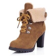 Зимние ботинки зимние ботильоны женская обувь 2017 модные каблуки зимние ботинки модная обувь