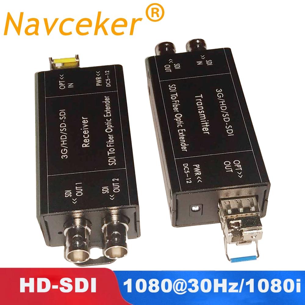 2019 HD SDI convertisseur de Fiber avec double sortie de HD-SDI 1080i SDI convertisseur de média à Fiber optique prise en charge boucle 1080 @ 30Hz sdi-fiber