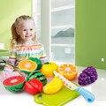 6 ШТ. Резки Фруктов Растительные Притворись Play Детские Игрушки Детям Развивающие Игрушки Кухня toys