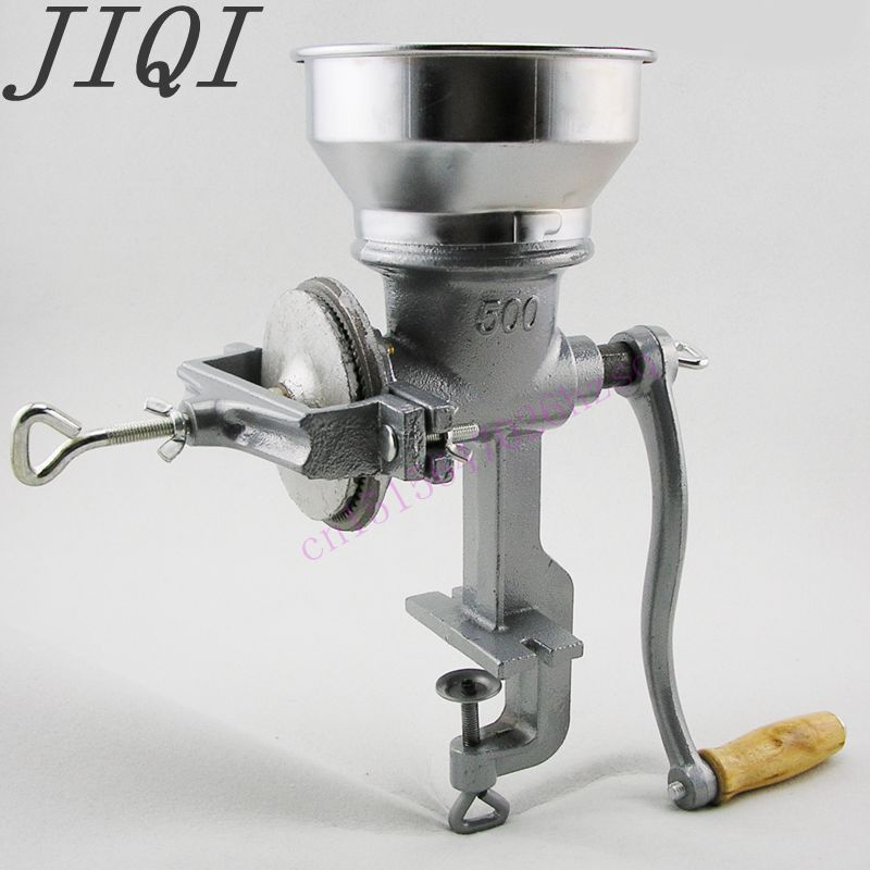 JIQI Manual Grinding Machine Household Hand Cast Iron Mill Corn Chinese Herbal Medicines Grain Dry Grinding Machine