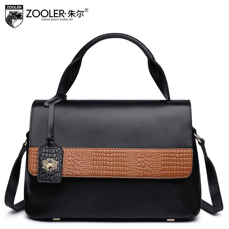 2017 ZOOLER Fashion Ladies' Handbags Made Of Genuine Leather Hit Color CCrossbody Bag For Women Shoulder Bayan Canta Simple