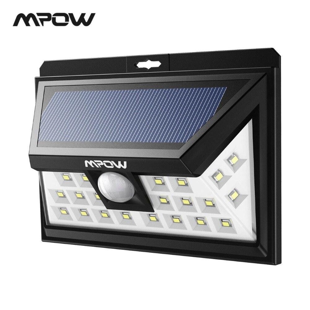 купить Mpow CD011 24 LED Solar Lights Outdoor LED Garden Light Solar Power Waterproof Wall Lamp Motion Sensor For Patio Pathway Garden по цене 1514.98 рублей