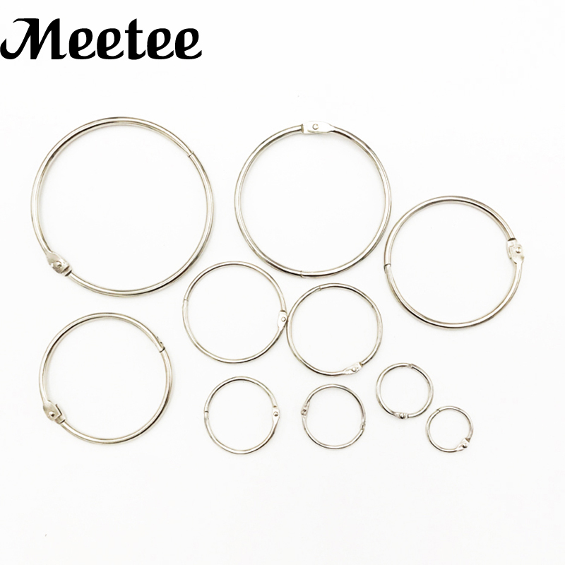 Round Shape Metal Loose Leaf Clip Buckles Rings Keychain Album Scrapbook Craft Hat Shoes Bag Buckles DIY Sewing Accessory KY2084