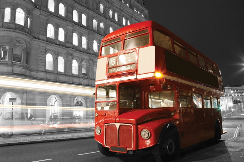Mural Red London Bus Wall Mural 3d murals 3D wallpaper for walls tv background welly london bus 99930