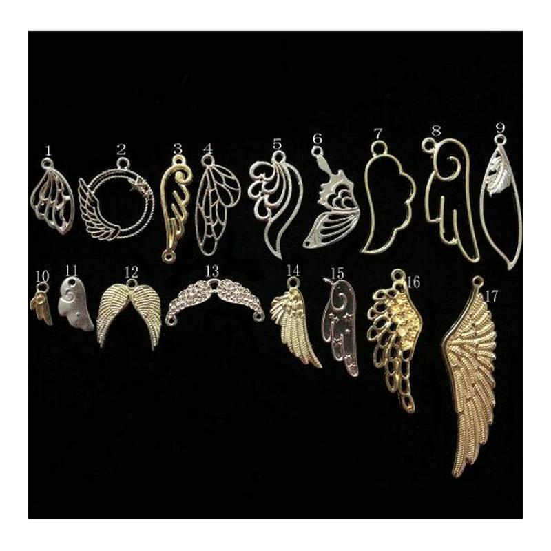 10 шт., милые летающие крылья, открытая рамка, ювелирные изделия, фурнитура, подвеска, аксессуары «сделай сам», милые ангелы, металлическая ра...