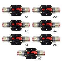 12 В автомобильный Грузовик аудио сбрасываемый Предохранитель автоматический выключатель аудио усилитель защита от перегрузки держатель предохранителя DC 20A-100A