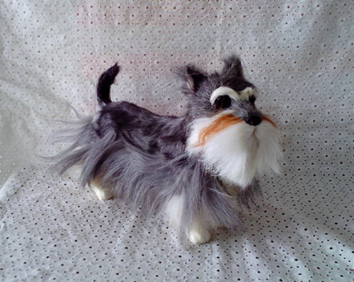 simulation cute Schnauzer 30x22cm model polyethylene&furs dog model home decoration props ,model gift d384 simulation cute sleeping cat 25x21cm model polyethylene