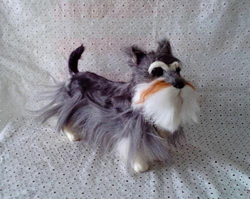 simulation cute Schnauzer 30x22cm model polyethylene&furs dog model home decoration props ,model gift d384 simulation cute squatting cat 35x28x26cm model polyethylene