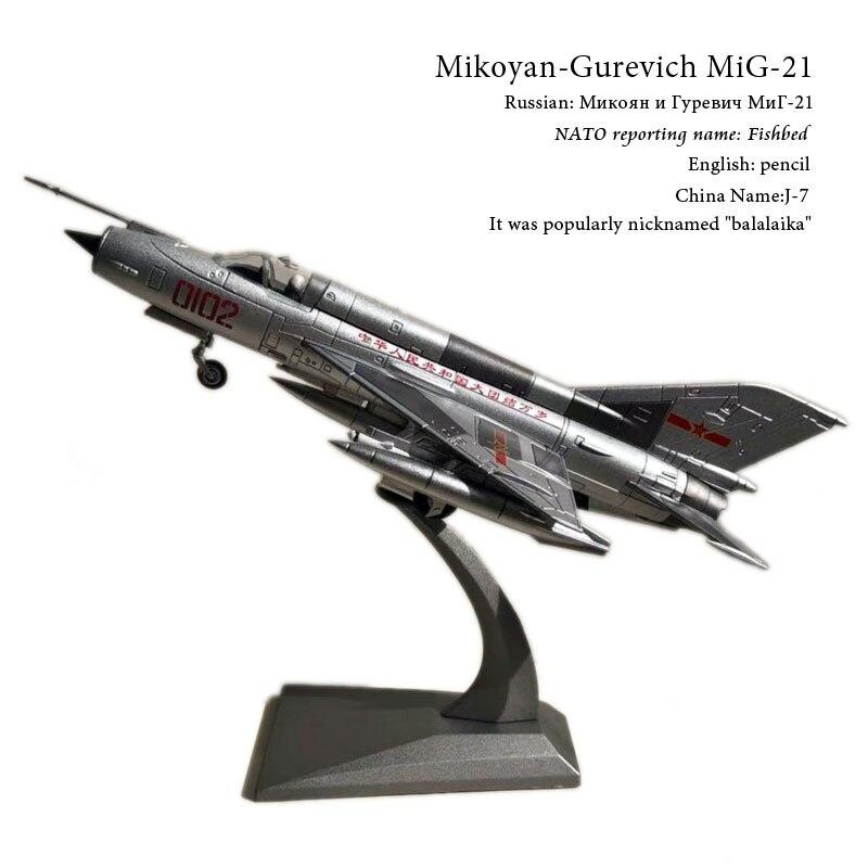 WLTK 1/72 масштаб военная модель игрушки PLAAF MiG-21 Fishbed Fighter Diecast металлическая модель самолета игрушка для коллекции, подарок, дети