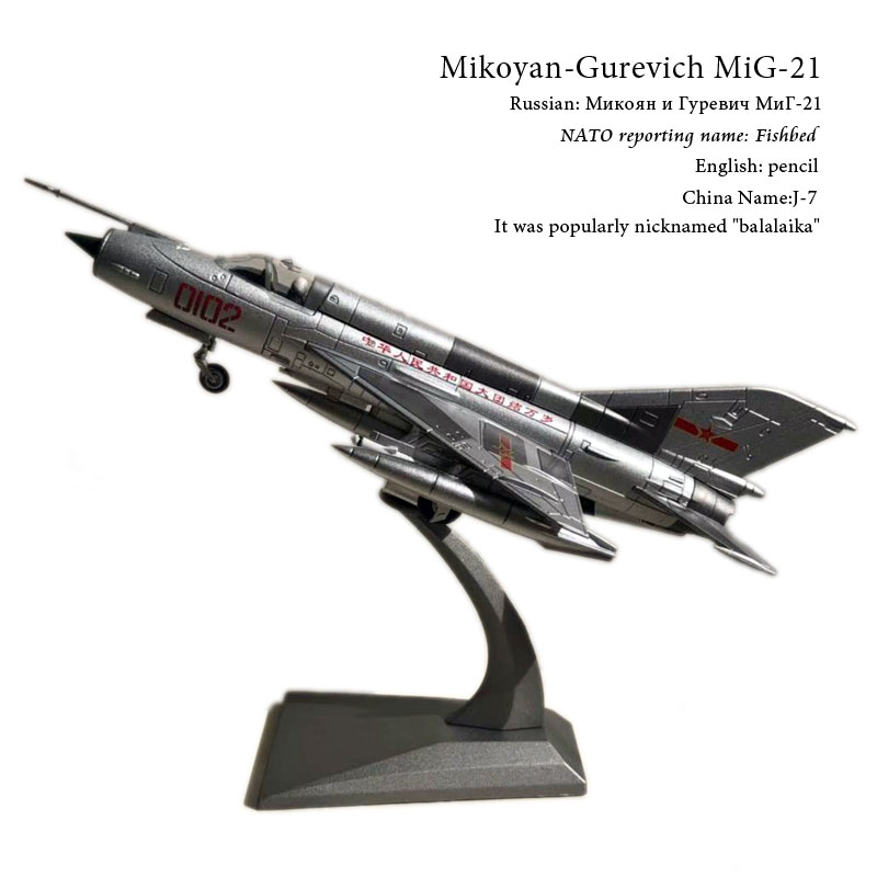 WLTK 1/72 Scale Military Model Toys PLAAF MiG-21 Fishbed Fighter Diecast Metal Plane Model Toy For Collection,Gift,KidsWLTK 1/72 Scale Military Model Toys PLAAF MiG-21 Fishbed Fighter Diecast Metal Plane Model Toy For Collection,Gift,Kids