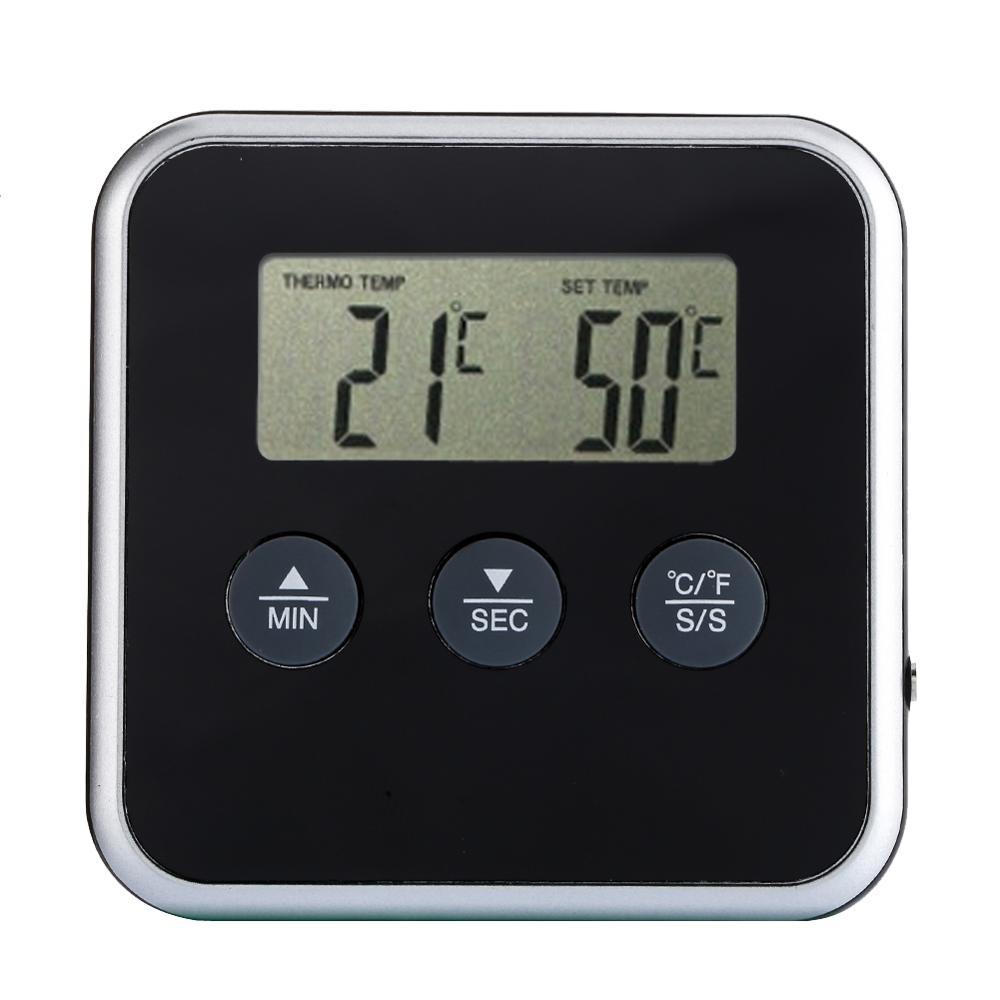 1 unids conveniente lectura instantánea termómetro digital eddingtons reloj digital temporizador de cocina carne termómetro sonda remota horno