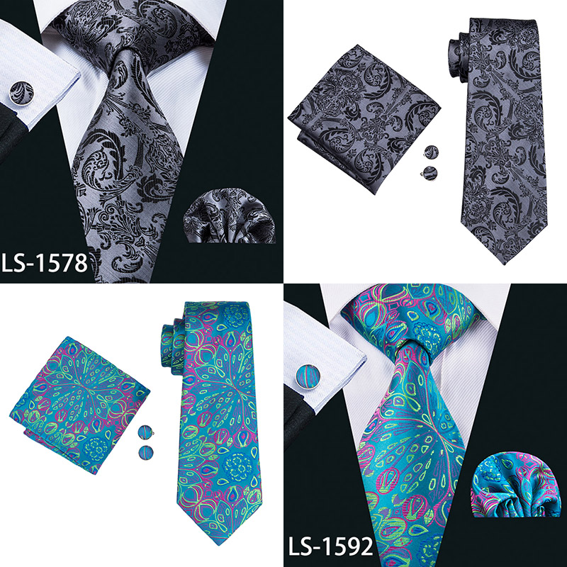 Paisley 100% Silk Fashion Set Ties For Men