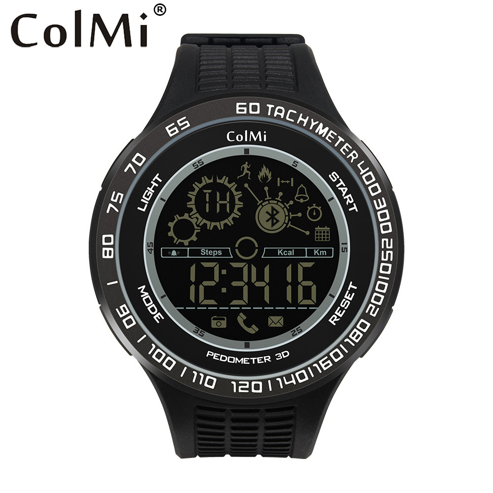 ColMi Sport Smart Watch King Kong 5ATM IP68 Waterproof Passometer Ultra-long Standby 33 Months Smartwatch For Android iOS diggro di10 smart sport watch ip68 waterproof pedomete long standby time bluetooth 4 0 smart 1 21 inch watch for ios android