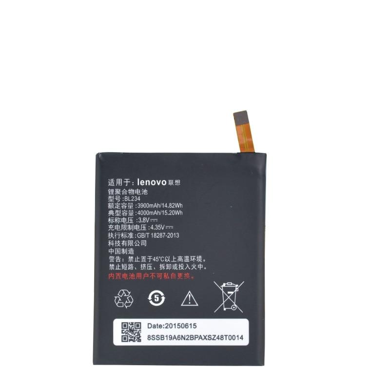 New Echt 4000 mAh BL234 batterie mit 3 Mt kleber aufkleber für Lenovo A5000 Vibe P1M P1MA40 P70 P70t P70-T