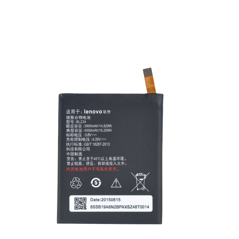 New Real 4000mAh BL234 battery with 3M glue sticker for Lenovo A5000 Vibe P1M P1MA40 P70 P70t P70-T